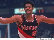 The inimitable Maurice Lucas in the uniform his Blazers adopted immediately after winning their first NBA Championship, in 1977. They've not won another.