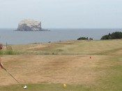 No. 12 at the Glen is a big, cascading downhill par 4. Aim to the right of Bass Rock.
