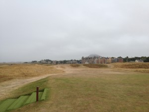 The Redan Hole, No. 15, at West Links. Yes, there is a heavily guarded green out there somewhere.