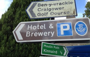 Pitlochry,Hotel-Brew sign,0342