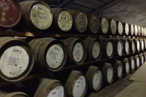 The aging room at Edradour Distillery is inspirational