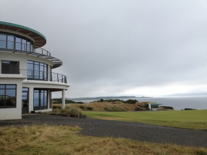 Castle Stuart's modern-looking clubhouse stares out at the ominous sea like the bow of a ship.