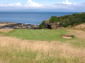 The eighth hole at Turnberry's Kintyre course is a fun and beautiful short par-four.