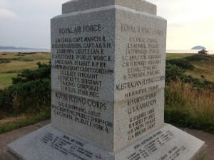 A monument to fall RAF fliers overlooks the Ailsa Course