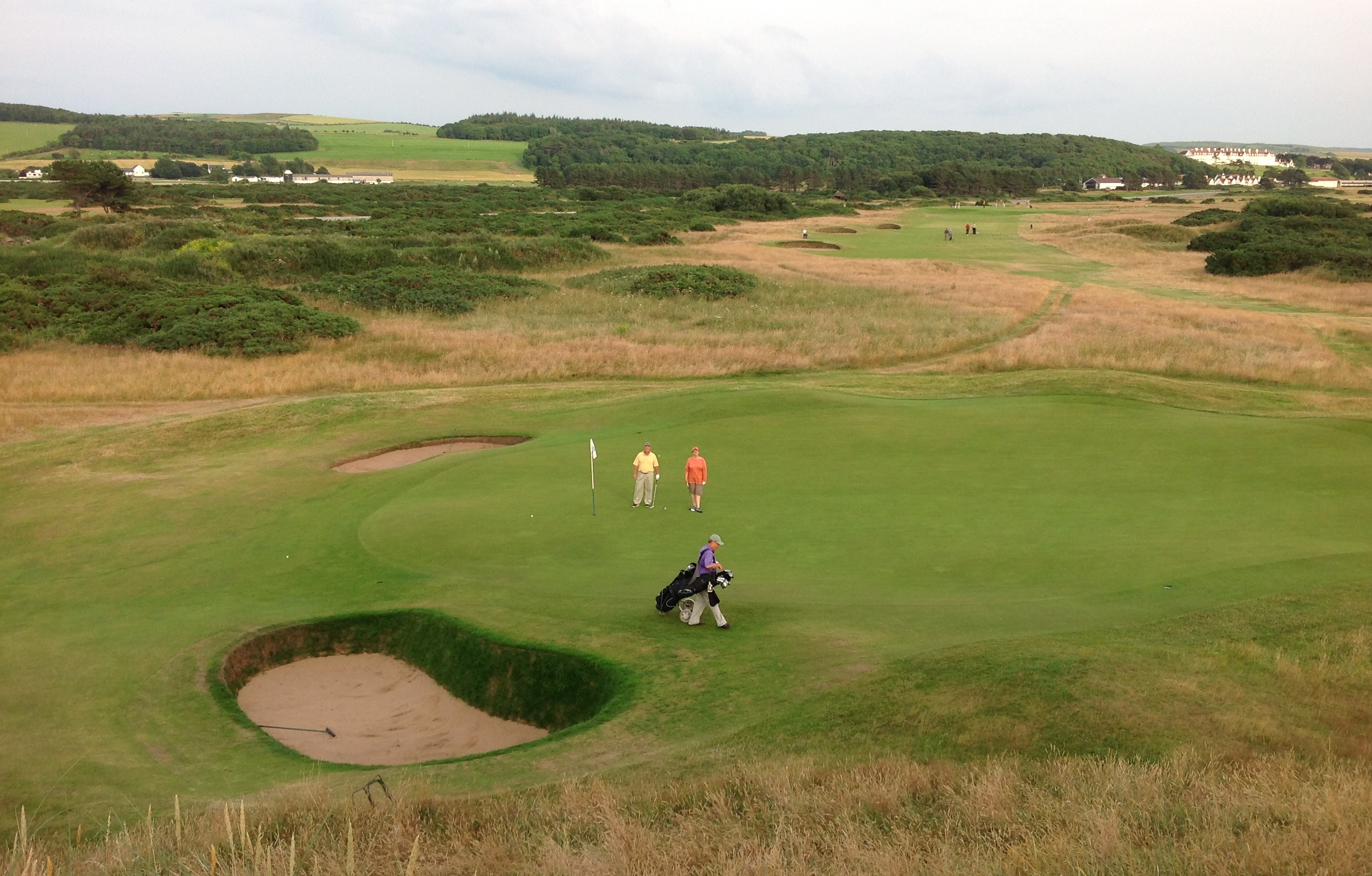 At Turnberry, the golf course wends its way through the terrain.