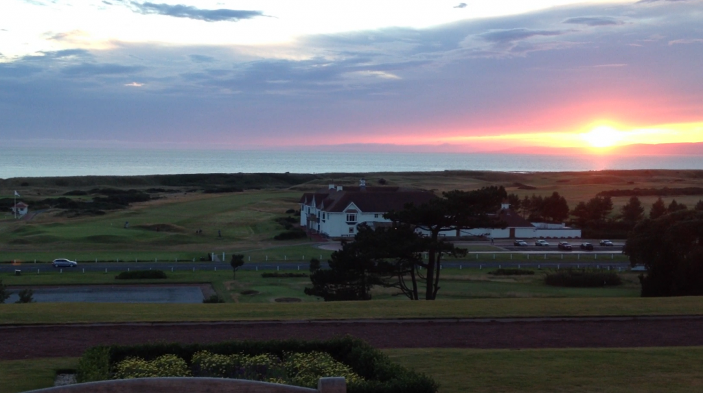 Sunset over Turnberry, from the hotel terrace