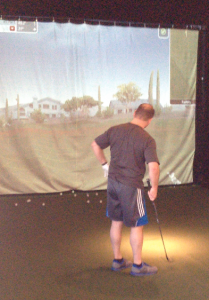 A fellow Catalyst golf enthusiast works on his chipping.