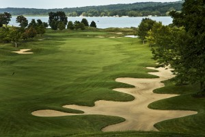 Geneva National's Player course does not lack for sand.