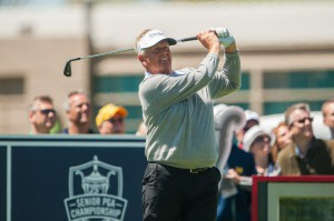 Montgomerie finishes with a flourish.