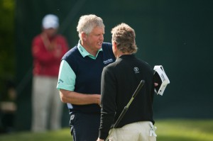 Old friends and rivals Monty and Langer played all four rounds together at the Senior PGA.