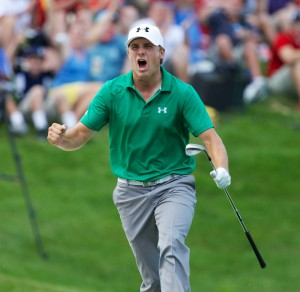 At the John Deere, the winner always gets really into it.