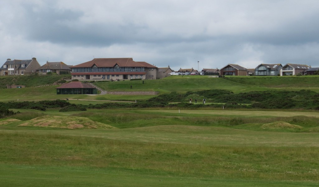 The Cruden Bay clubhouse sits serenely above the golf course, providing an excellent view along with a much-needed post-round pint.