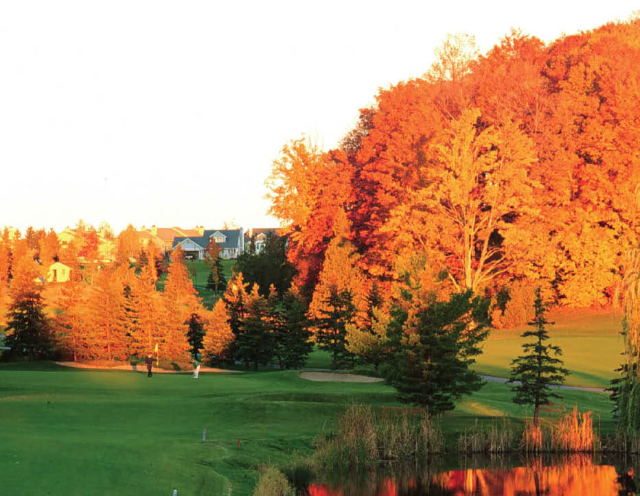 With colors like this and a leaf rule, the upside of fall golf in Northern Michigan is boggling.