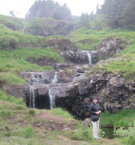 Waterfalls amid meadows. . . the Faerie Pools trail is a lovely Isle of Skye hike.