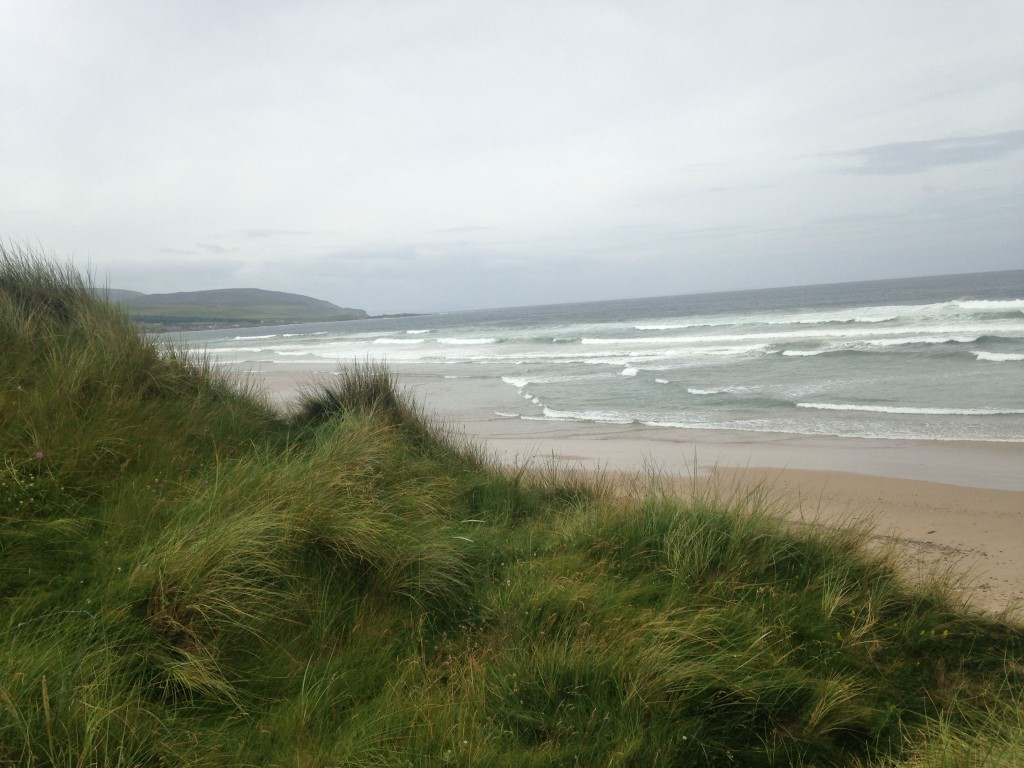 The beach at Machrihanish is stark and beautiful.