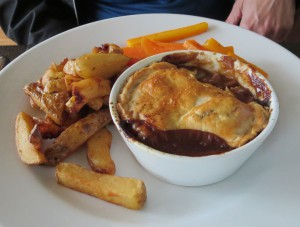 Try the Steak & Ale pie, a Scottish favorite