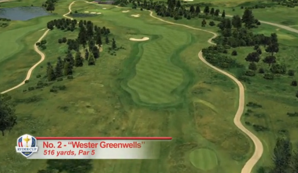 TAKE TWO: Eagles or `others?' Second hole will be the first of the tempting risk-reward holes at Gleneagles.