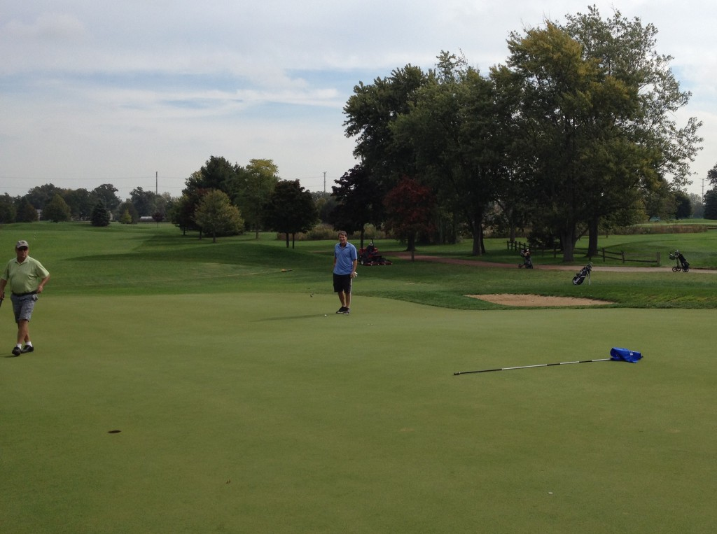 Big boy: The green at Wilmette's par-five sixth hole sits higher and is much deeper.