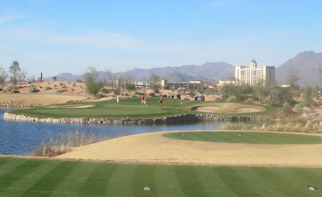 Just add water: Sewailo, in the shadow of the Casino Del Sol, features 12 water holes