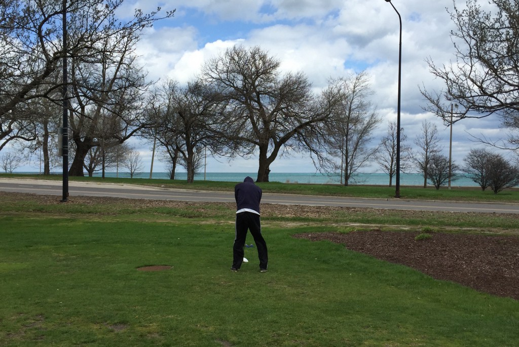 10th tee at Jackson Park overlooks Lake Michigan.