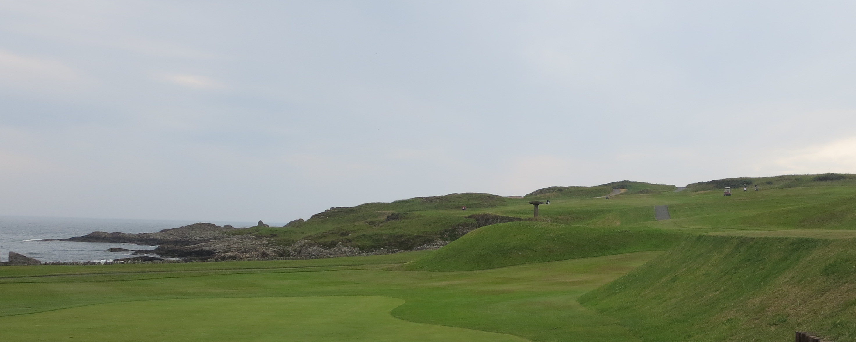 First hole at Ardglass. . . bite off as much rocky coast as you want.