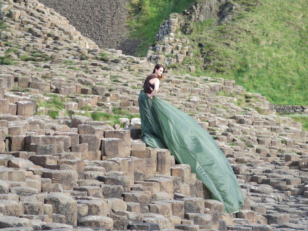 A photo shoot at Giant's Causeway.