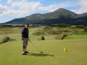Royal County Down is beautiful on a rare warm and sunny day. . . especially if you can find the fairway.
