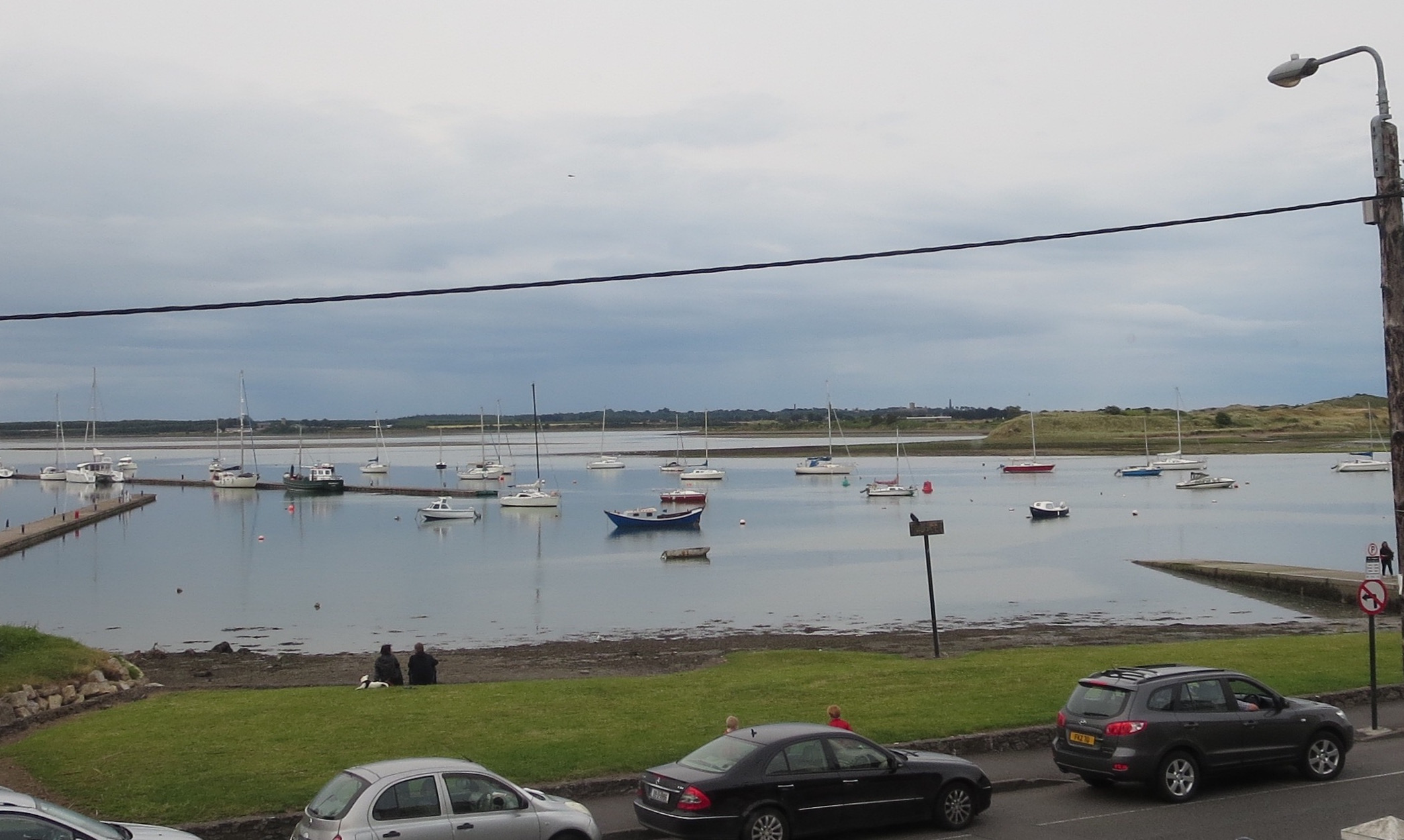 Malahide harbor, as seen from the Greedy Goose restaurant