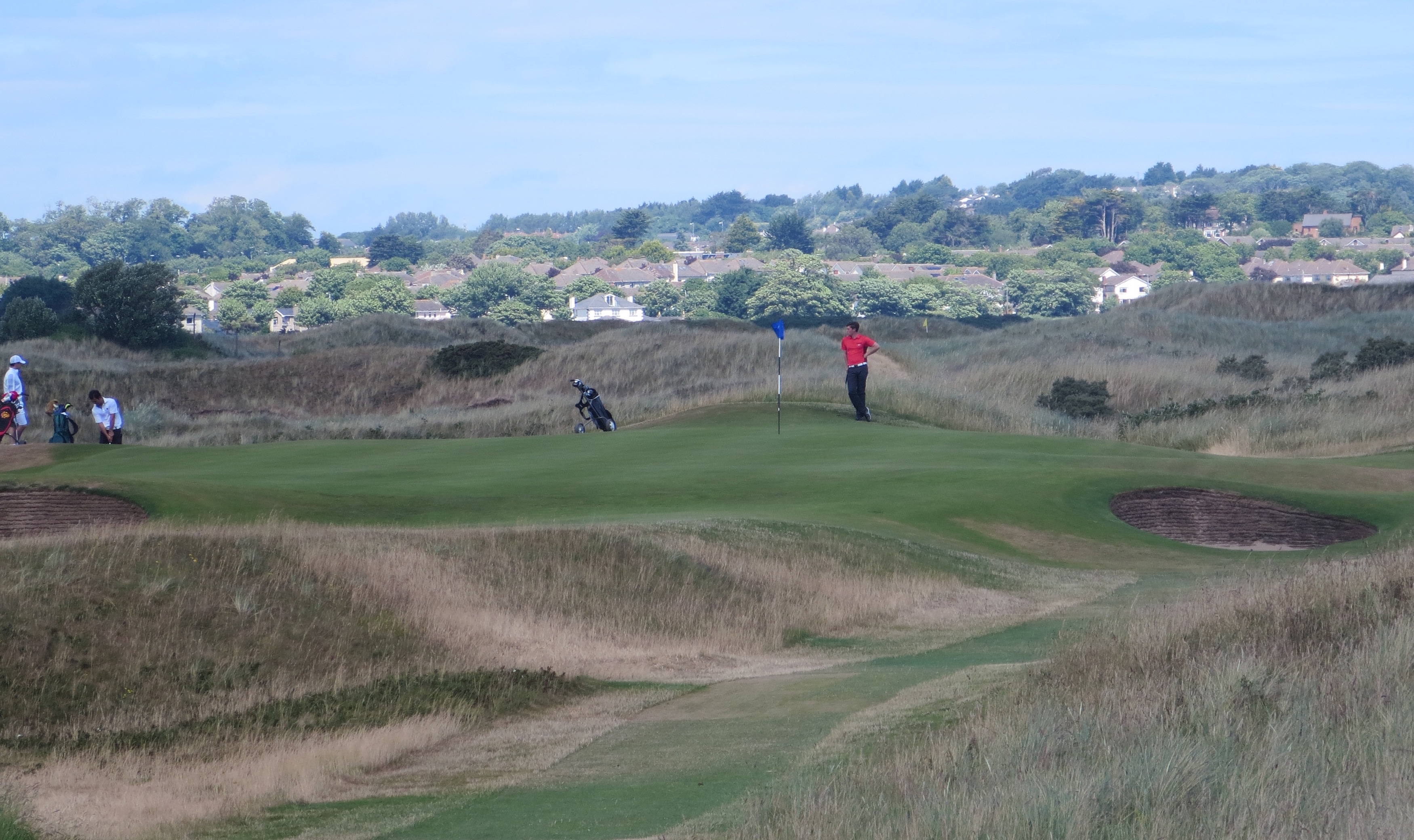 Rory & friends enjoy the serenity of Portmarnock's 11th green.
