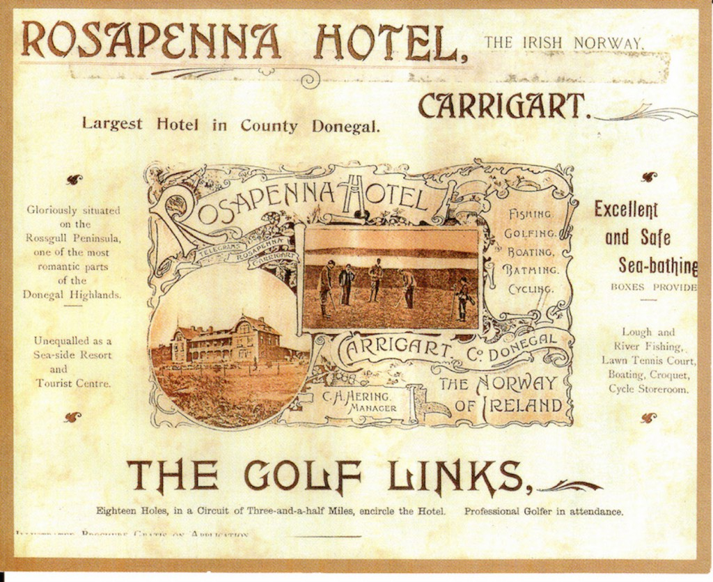 A vintage advertisement for Rosapenna, ``the irish Norway.''