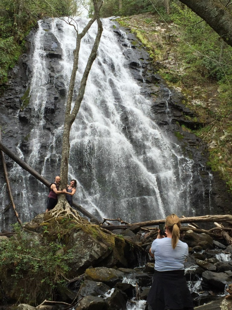 Crabtree Falls, a hiking destination on the Blue Ridge Parkway, is camera-ready.