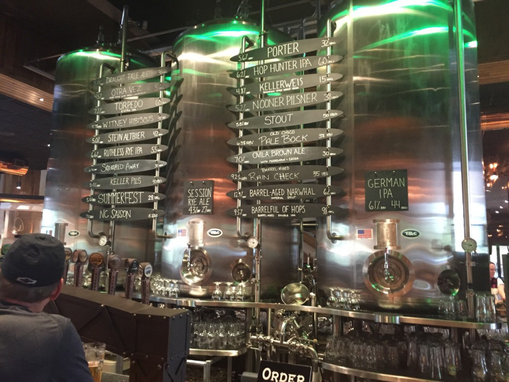 Sierra Nevada taproom has an extensive and innovative beer list.