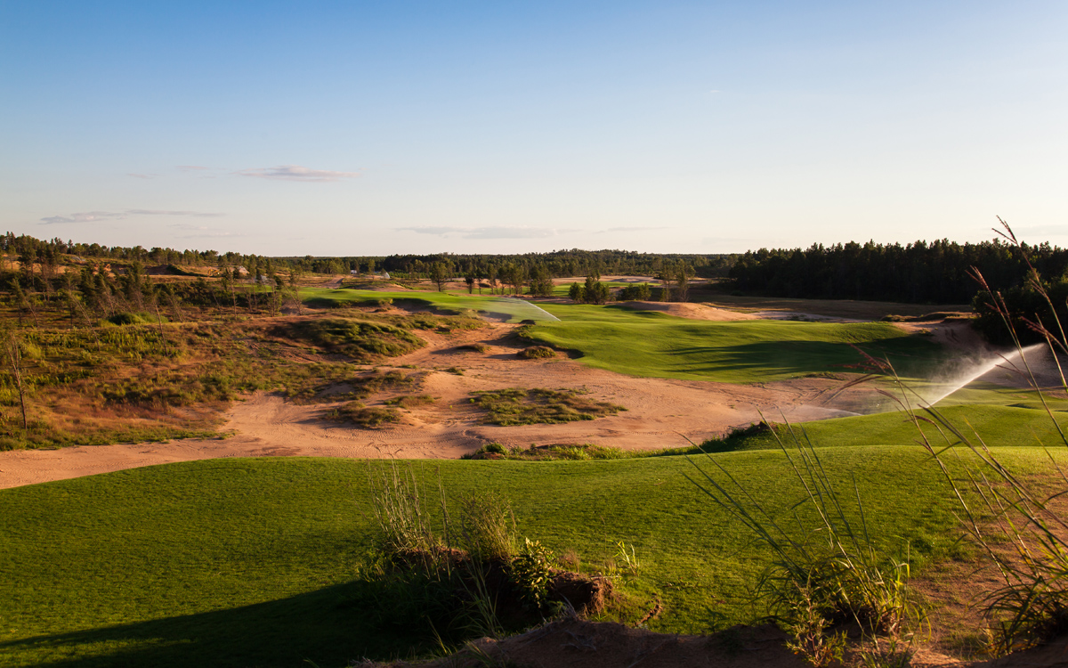The first hole at Sand Valley provides an inviting introduction of what is yet to come.
