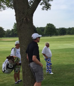 Daly found a lot of shady spots in the early going.