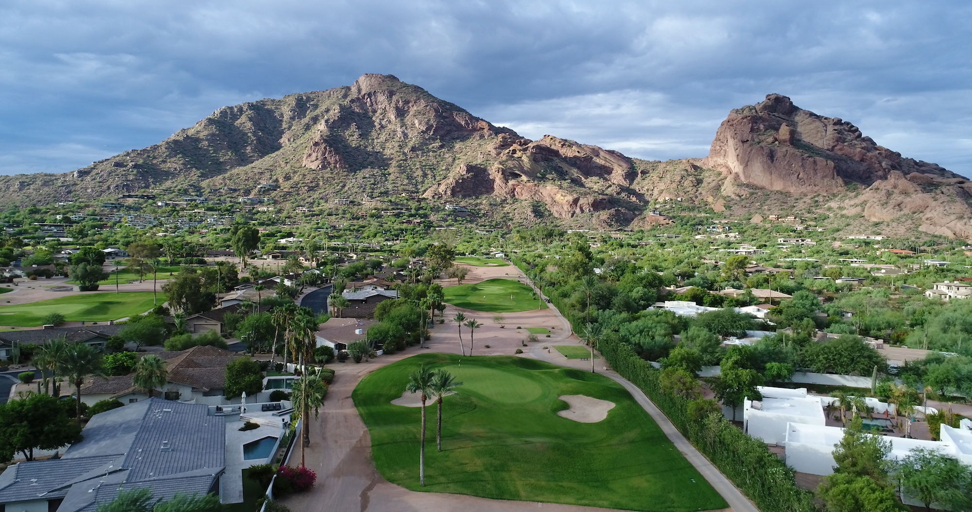 Camelback, Golf, Mountain Shadows - Golf towards Camelback Mountain