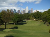 View of Dallas skyline from No. 15 at Stevens Park