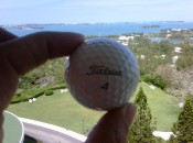 The ball for ace #4 during the Bacardi Par-3 Championship.