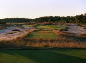 The par-4 17th at Forest Dunes: do you dare try to drive it?