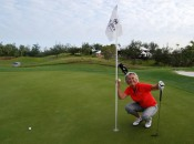 Ace Number 4 at the Fairmont Southampton Bacardi Championship, March 2011, on the 2nd hole. Dad always liked me in red.....