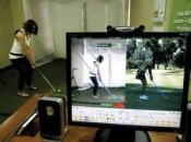 GolfTEC student takes aim.