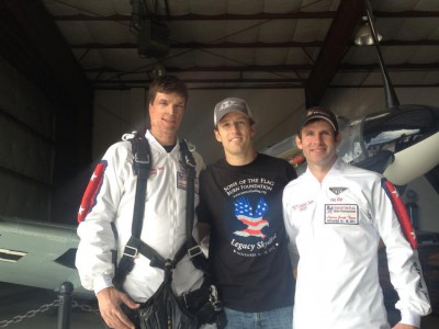 Ret. Capt. Sam Brown, SOTF President Ryan Hyman, SOTF Founder Ryan Parrott at the Legacy Skydive.