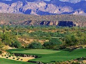 In the high Sonoran Desert, the vistas from both We Ko Pa courses are stark and beautiful.