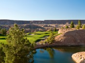 This is the look of golf in Mesquite, Nevada, typified by this shot at the Falcon Ridge course.