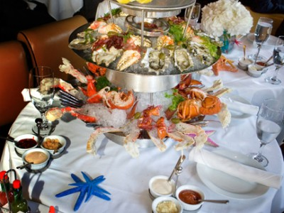 The Ocean Club's Signature Seafood Tower.