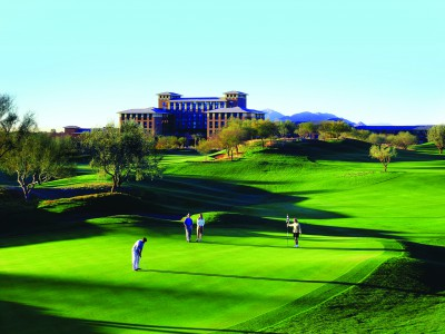 The Scott Miller-designed Westin Kierland Golf Club with the resort in the background.