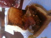 A sample buger at the Rusty Spur, where the ordinary and the weird go to eat and drink in Olld Town Scottsdale.