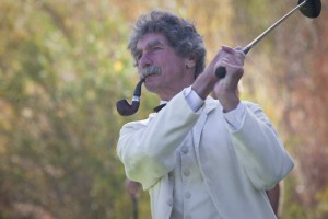 Mark Twain impersonator and lecturer McAvoy Layne.