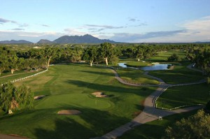 Aerial view of the Tubac Golf Resort.