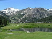 With the fable Squaw Valley Ski Resort, site of the 1960 Winter Olympics in the background, the Links at Squaw Creek sit in mountain splendor.