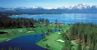 The spectacular scenic setting for Edgewood Tahoe golf.